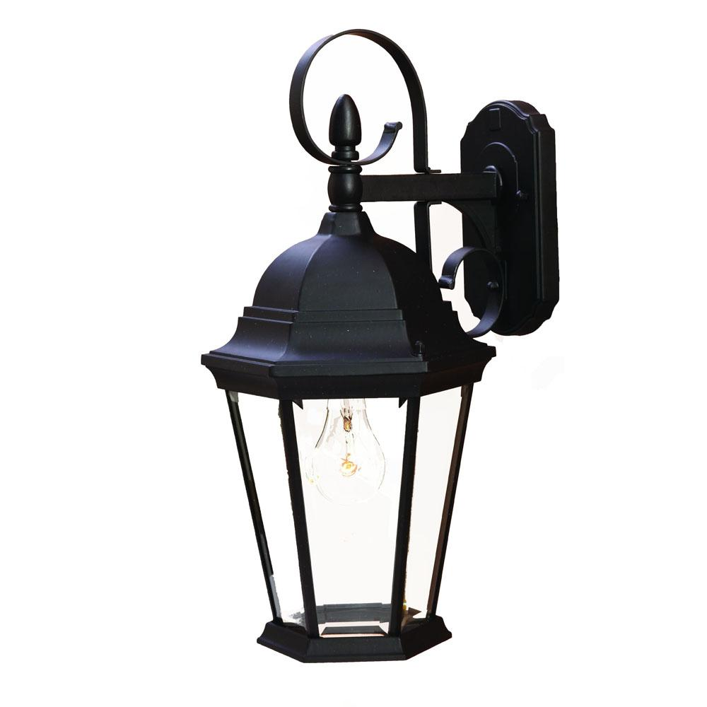Acclaim Lighting 5412BK - One Light Matte Black Clear Beveled Glass ...