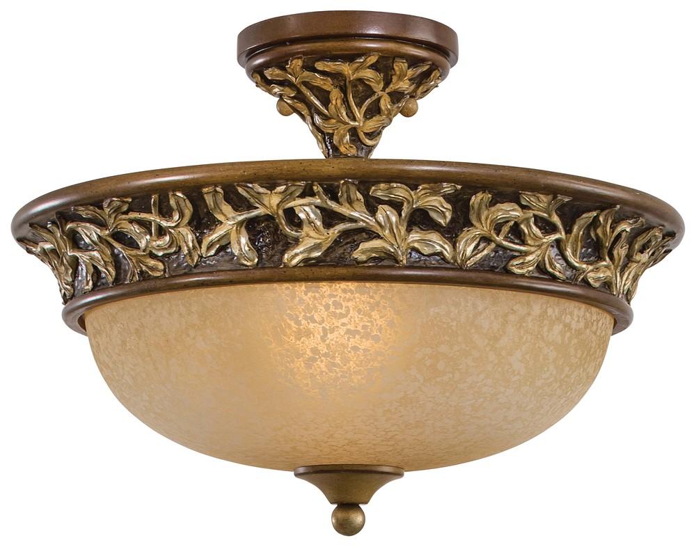 3 Light Semi Flush Mount : 1568-477 | Lighting Depot