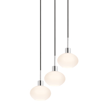 Sonneman 3565.01K-3 - Demi Oval 3-Light Pendant