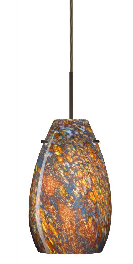 besa pera 9 pendant bronze ceylon 1x100w a19 - Besa Lighting