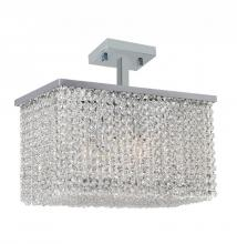 Worldwide Lighting Corp W33754C16 - Prism Collection 5 Light Chrome Finish with Clear Crystal Ceiling Light