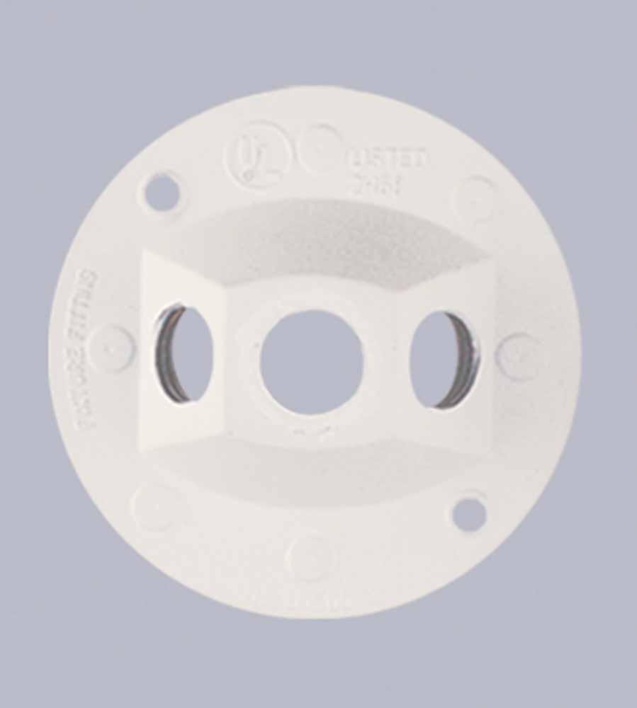 outdoor flood light socket holder box plate for mounting 1 or 2