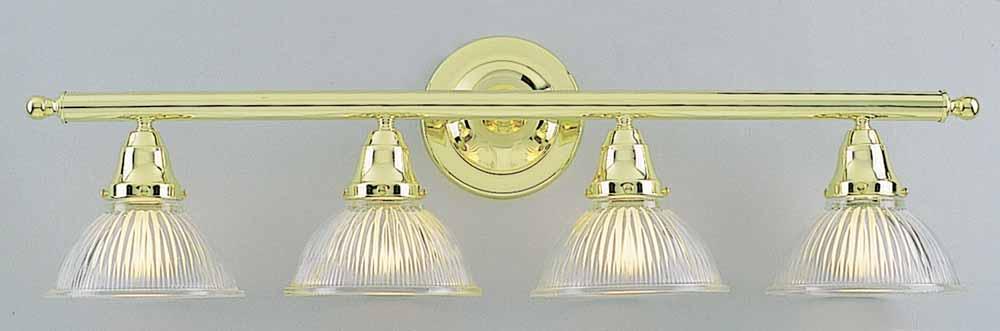 4 Light Polished Brass Bathroom Vanity