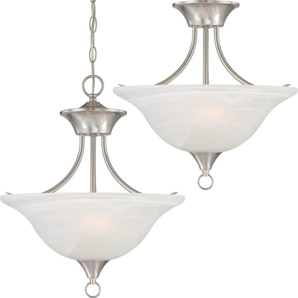 Trinidad 2 light brushed nickel pendant or semi flush ceiling mount trinidad 2 light brushed nickel pendant or semi flush ceiling mount arubaitofo Choice Image