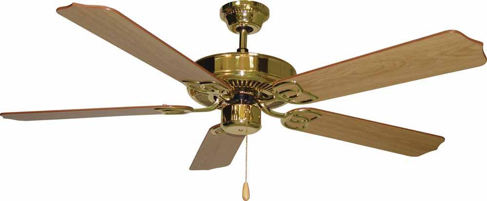 Minster polished brass ceiling fan v6152 2 lighting depot minster polished brass ceiling fan mozeypictures Choice Image