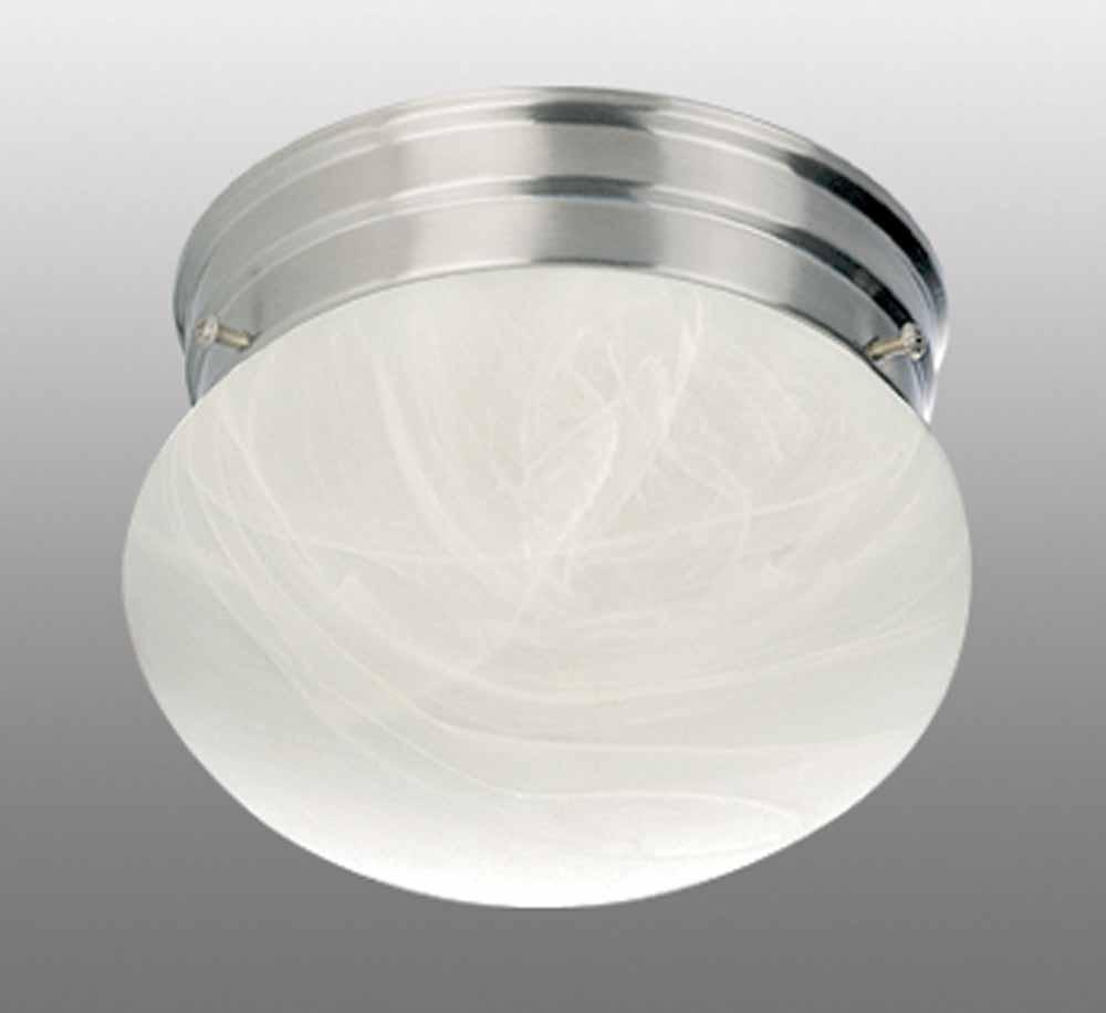 minster 2light brushed nickel flush mount ceiling fixture