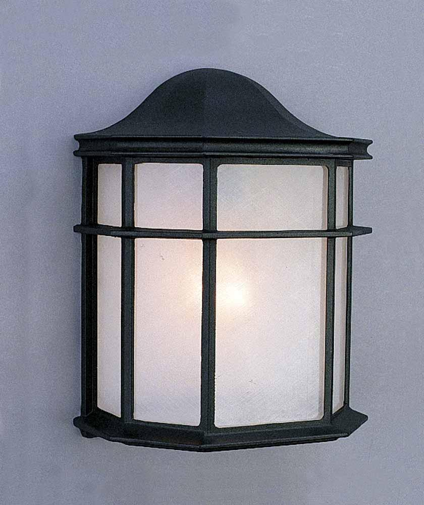 1-light Black Outdoor Wall Sconce : the lighting depot - azcodes.com