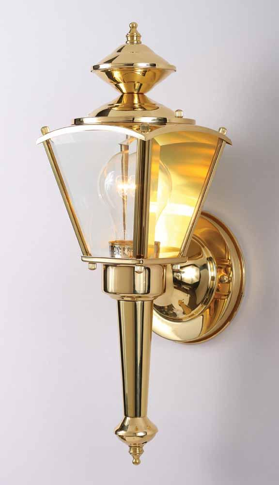 Brass Outdoor Lighting Fixtures 1 light polished brass outdoor wall sconce v9510 2 lighting depot 1 light polished brass outdoor wall sconce workwithnaturefo