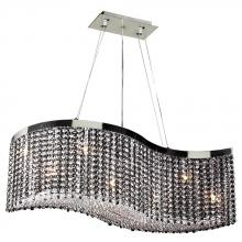 PLC Lighting 66010 CLEAR/PC - PLC 8 Light Chandelier Clavius - I Collection 66010 CLEAR/PC