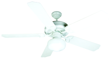 "Craftmade K10529 - Outdoor Patio 52"" Ceiling Fan Kit with Light Kit in White"
