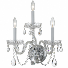 Crystorama 1033-CH-CL-MWP - Crystorama Traditional Crystal 3 Light Clear Crystal Chrome Sconce I
