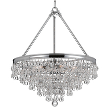 Crystorama 136-CH - Crystorama Calypso 6 Light Crystal Teardrop Chrome Chandelier