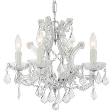 Crystorama 4474-CH-CL-MWP - Crystorama Maria Theresa 4 Light Clear Crystal Chrome Mini Chandelier II