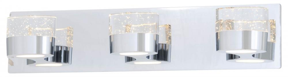 Three Light Vanity : DVP6873CH-SDY | Lighting Depot:DVI DVP6873CH-SDY - Three Light Vanity,Lighting