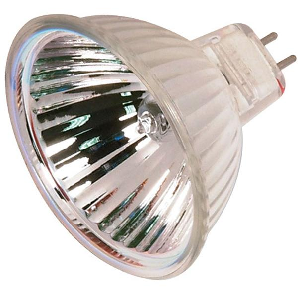 35 watt; Halogen; MR16; 4000 Average rated Hours; Miniature 2 Pin Round base; 12 volts; Shatter proo