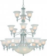Dolan Designs 663-09 - 21+5Lt 3 Tier Bowl Chandelier