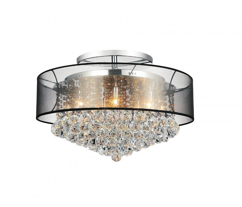 12 Light Chrome Drum Shade Flush Mount from our Radiant collection
