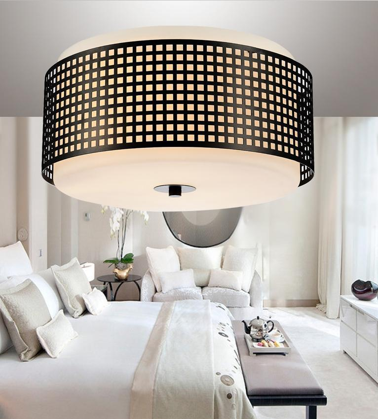 2 Light Black Drum Shade Flush Mount from our Checkered collection