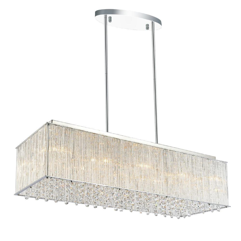 10 Light Chrome Drum Shade Chandelier from our Spring Morning collection