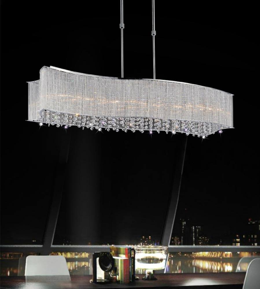 6 light chrome drum shade chandelier from our elsa collection