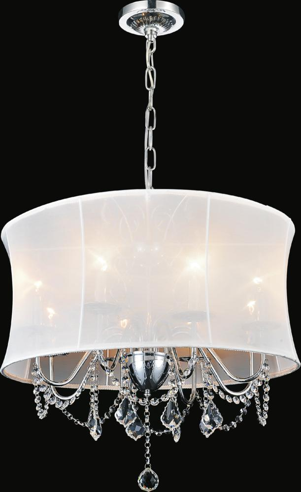 8 light chrome drum shade chandelier from our charlotte collection