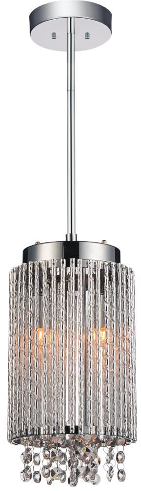 2 light drum shade mini pendant with chrome finish 5535p6c r 2 light drum shade mini pendant with chrome finish aloadofball Gallery