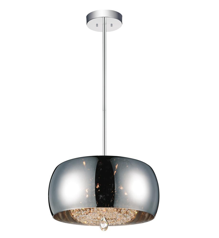 6 light drum shade chandelier with chrome finish 5608p20c e smoke 6 light drum shade chandelier with chrome finish arubaitofo Images