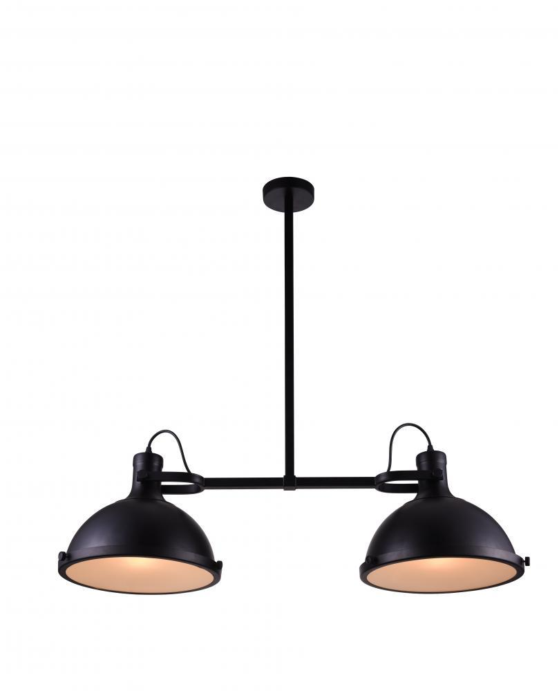 Light Island Chandelier With Black Finish P - 2 light island chandelier