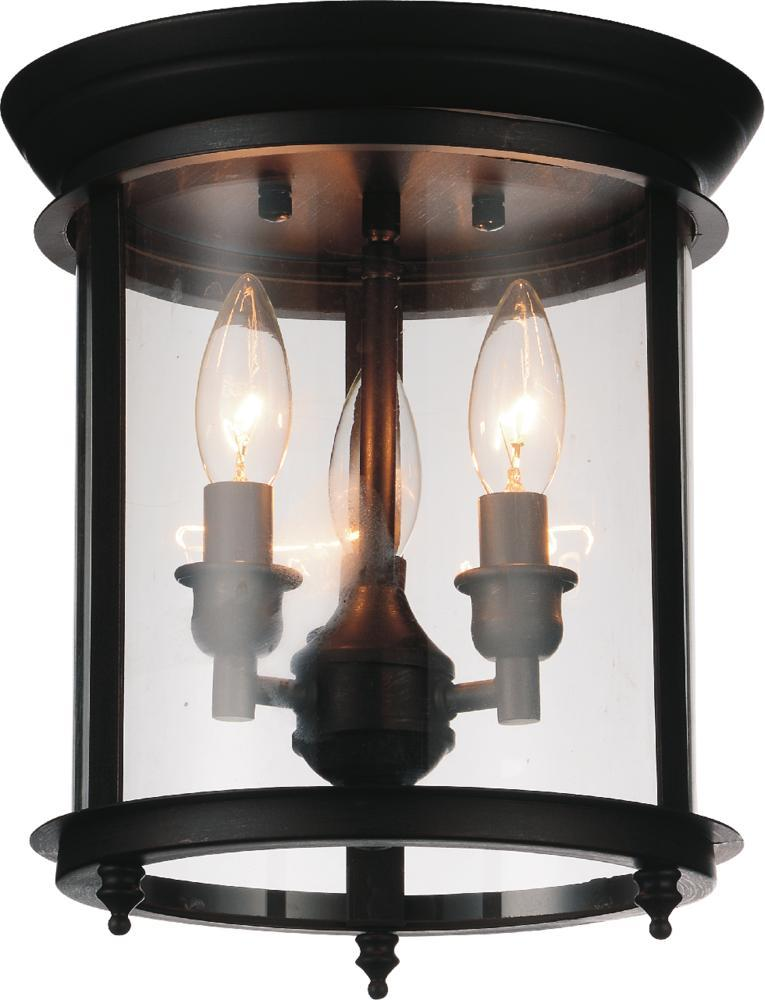 3 light oil rubbed bronze cage flush mount from our desire collection