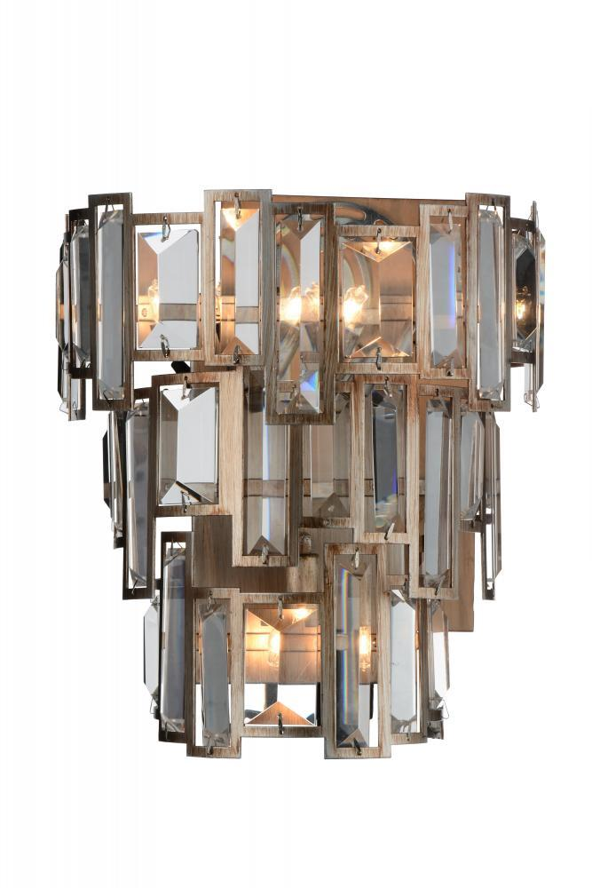 Light Wall Sconce With Champagne Finish W Lighting - 3 light bathroom sconce