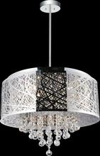 Crystal World 5008P22ST-R - 9 Light Chrome Drum Shade Chandelier from our Eternity collection