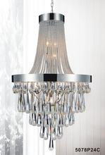 Crystal World 5078P24C (Clear) - 13 Light Chrome Down Chandelier from our Vast collection