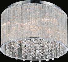 Crystal World 5319C14C-R - 6 Light Chrome Drum Shade Flush Mount from our Spring Morning collection