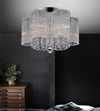 Crystal World 5319C16C - 5 Light Chrome Drum Shade Flush Mount from our Spring Morning collection