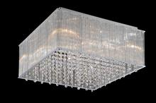 Crystal World 5319C18C-S - 8 Light Chrome Drum Shade Flush Mount from our Spring Morning collection