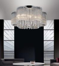 Crystal World 5319C20C - 7 Light Chrome Drum Shade Flush Mount from our Spring Morning collection