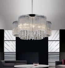 Crystal World 5319P20C - 7 Light Chrome Down Chandelier from our Spring Morning collection
