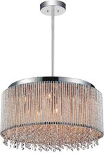 Crystal World 5535P24C-R - 14 Light Chrome Drum Shade Chandelier from our Claire collection