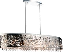 Crystal World 5536P46ST-O - 16 Light Chrome Drum Shade Chandelier from our Bubbles collection
