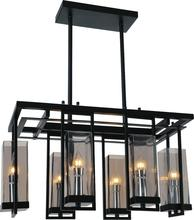 Crystal World 9858P27-6-RC-101 - 6 Light Black Up Chandelier from our Vanna collection