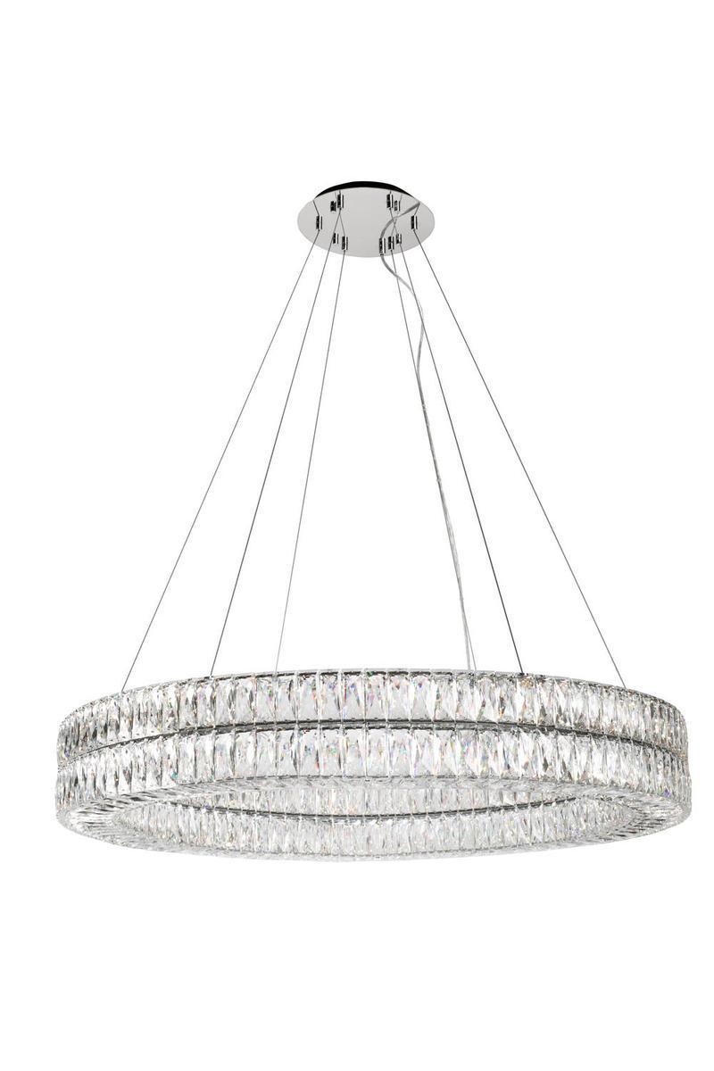 Solaris double ring chandelier with diamond cut clear crystals solaris double ring chandelier with diamond cut clear crystals aloadofball Images