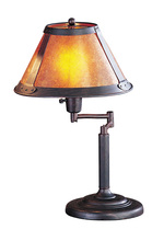 "CAL Lighting BO-462 - 15"" Height Metal Desk Lamp In Rust"