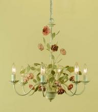 AF Lighting 7050-6H - Six Light Cream Up Chandelier