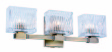 Elegant 1516W19LAB - 1516 Torrent Collection Wall Sconce, Vanity D:19in H:6in E:4in Lt:3 Light Antique Brass Finish