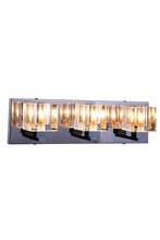 Elegant 2070W3C/RC - 2070 Reflection Collection Wall Sconce D:18in H:5in E:5in Lt:3 Chrome Finish (Royal Cut Crystals)