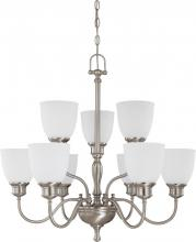 Nuvo 60-2779 - Bella - 9 Light 2 Tier Chandelier w/ Frosted Linen Glass