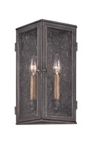 Troy B3202 - Two Light Aged Pewter Outdoor Wall Light