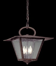 Troy F2956 - Three Light Fired Iron Hanging Lantern