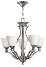 Hinkley 4655BN - Five Light Brushed Nickel Up Chandelier