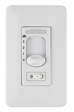 Fanimation CW1SWWH - Wall Control Non Reversing - Fan Speed and Light - WH